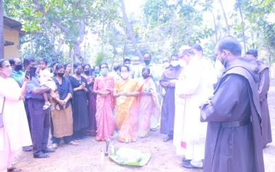 Blessing and laying foundation stone at kanjirakode