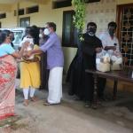 Food kits to the poor neighbours of Mount Carmel Ashram, Perumkulam
